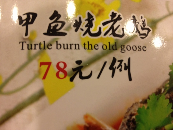 Menu_Turtle burn the old goose