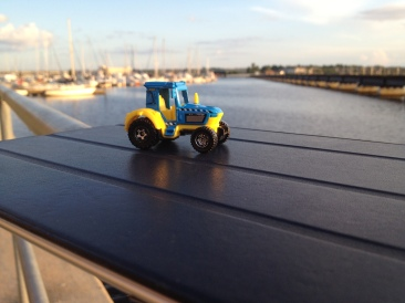 Tractor enjoying the marina.