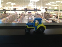 Tractor overlooking Piggly Wiggly from their conference room.