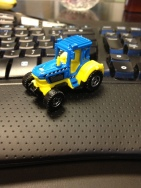 Tractor on my keyboard.