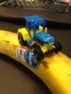 Tractor on banana.