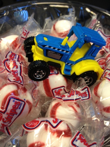 Tractor in the mints.