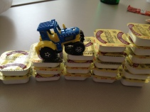 Tractor vs. Butter.
