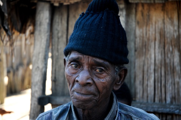 This is the village king. At 83, he's the oldest in his village. He started calling me his brother-in-law!