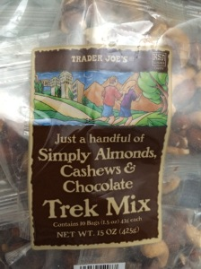 Trader Joe's Trek chocolate almonds cashews